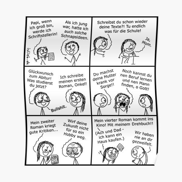 Schriftstellerin islieb Comic Poster