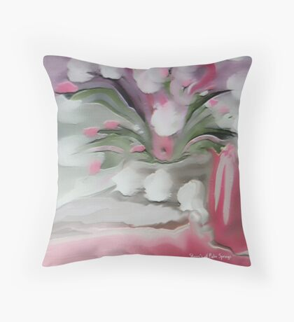 Think Pretty Pink Throw Pillow