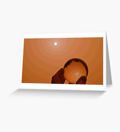 Dust Storm in a Bubble Perhaps a Red Bubble ?  Greeting Card