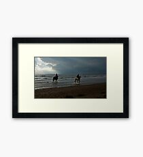 10 BEACH RUN CALENDAR Framed Print