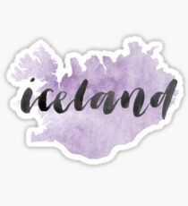 Island-Land-Aquarell Sticker
