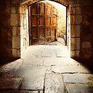Wooden Door, Monsalvat by Roz McQuillan