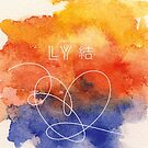 BTS Love Yourself Antwort Aquarell von Charlotte Frye