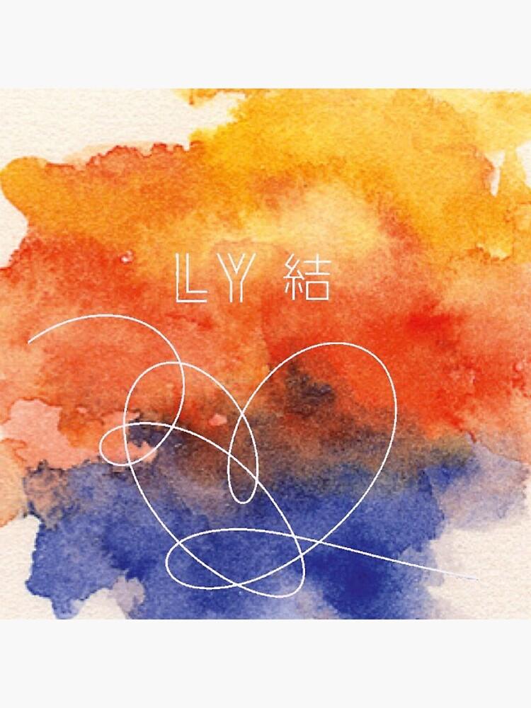 BTS Love Yourself Antwort Aquarell von GenericNyeri