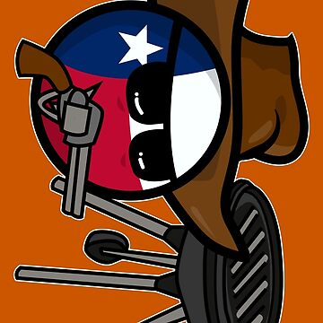 Polandball - Texas doing a BBQ  by DigitalCleo