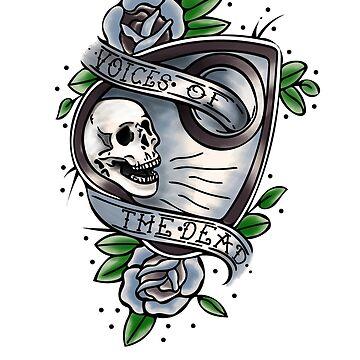 Voices Of The Dead Tattoo Design Halloween Mardi Gras by SmartAndPunny