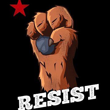 California Bear Fist Shirt Resist Fist by japdua
