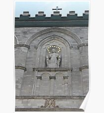 #church #architecture #cathedral #religion #building #ancient #sculpture #europe #statue #travel #old #city #entrance #history #saint #detail #door #stone #facade #landmark #historic #arch #medieval  Poster