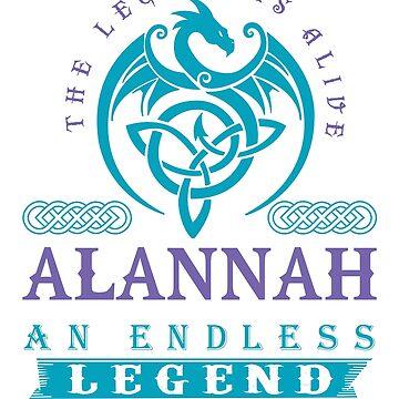 Legend T-shirt - Legend Shirt - Legend Tee - ALANNAH An Endless Legend by wantneedlove