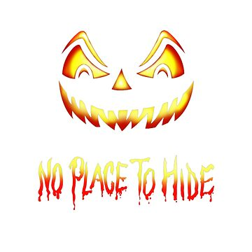 No Place To Hide Halloween Horror Pumpkin by giagri001
