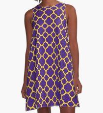 Quatrefoil Bayou Bengal Gameday Dress 1 A-Line Dress