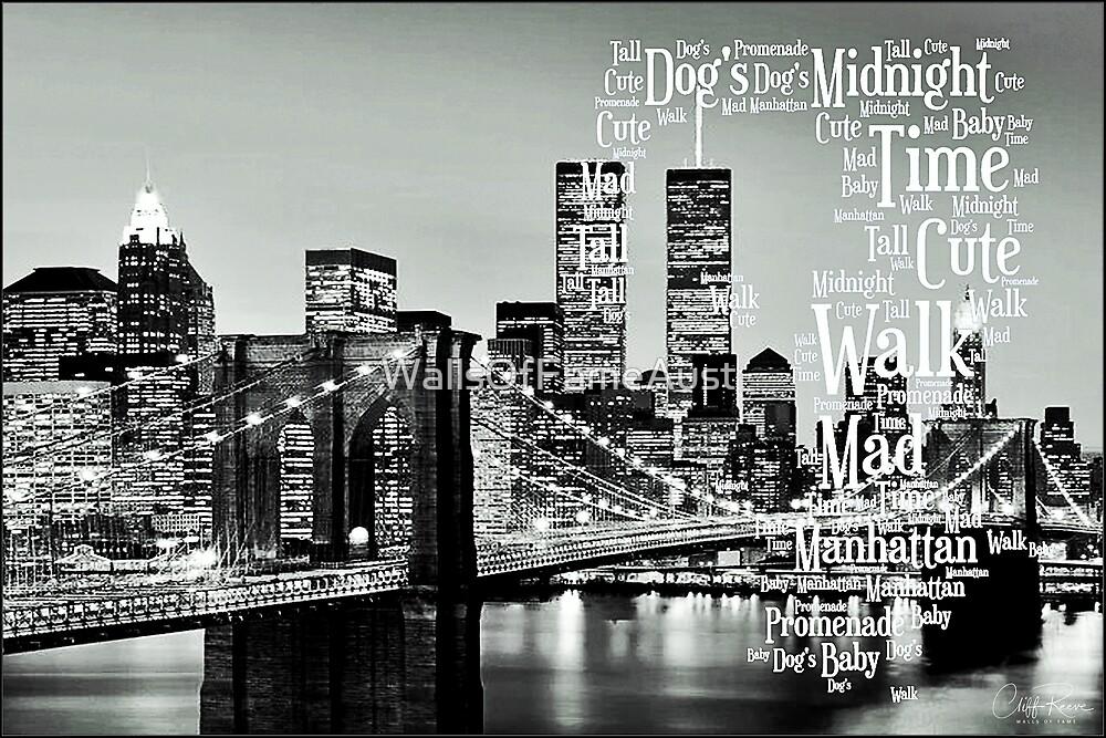 New York City Serenade Lyric Tribute 3 Bruce Springsteen by WallsOfFameAust