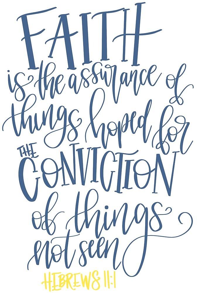 hebrews 11:1 bible verse by hintofmint