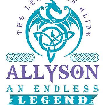 Legend T-shirt - Legend Shirt - Legend Tee - ALLYSON An Endless Legend by wantneedlove