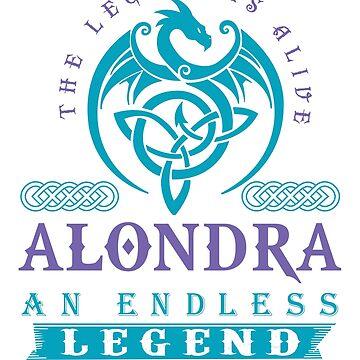 Legend T-shirt - Legend Shirt - Legend Tee - ALONDRA An Endless Legend by wantneedlove