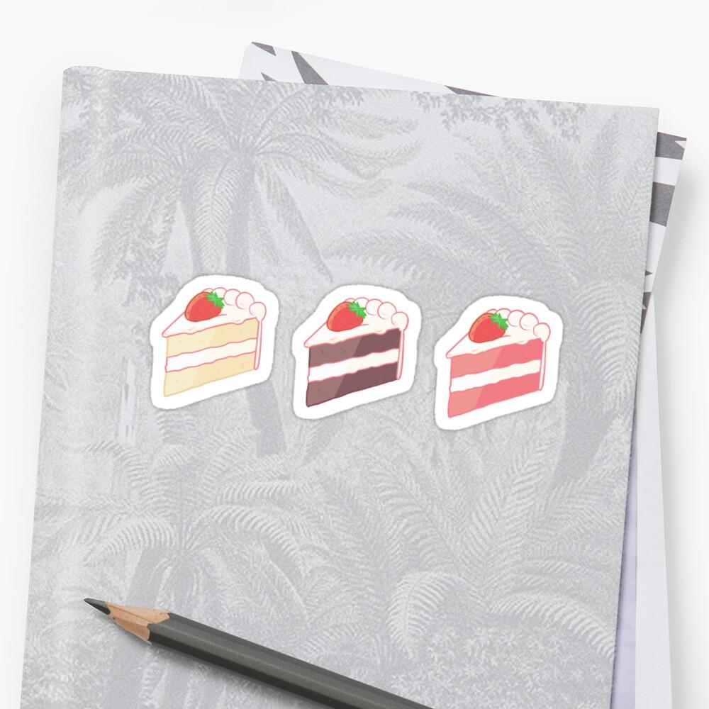 Cake Sticker Set by Shandy Kim