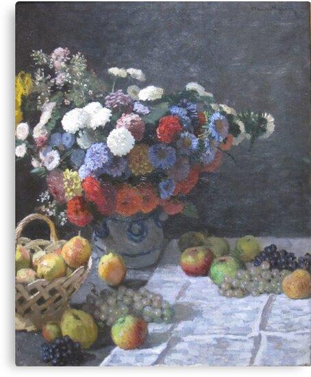 Claude Monet Flowers Fruits France Art by QuanYin5