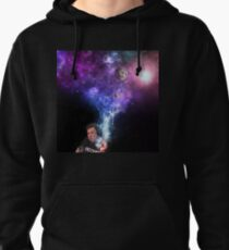 Elon Musk Smoking the Universe Pullover Hoodie