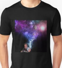 Elon Musk Smoking the Universe Slim Fit T-Shirt
