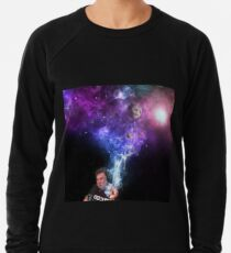 Elon Musk Smoking the Universe Lightweight Sweatshirt