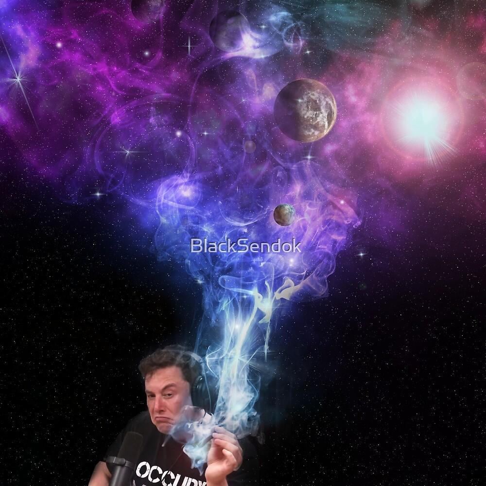 Elon Musk Smoking the Universe by BlackSendok