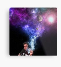 Lienzo metálico Elon Musk Fumando Marihuana - Espacio Exterior