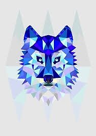 Simple Blue Wolf Prism by ArchQilin76