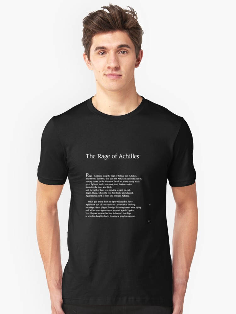 The Iliad Homer Page One Unisex T-Shirt Front