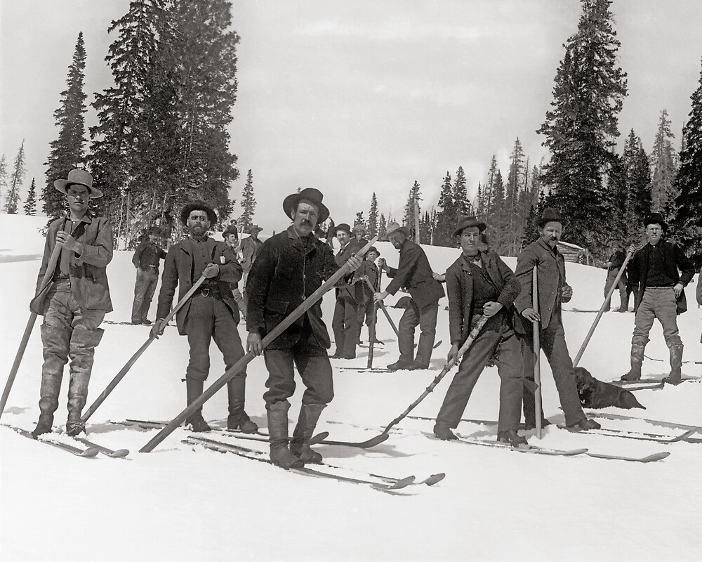 Colorado Skiers, 1910. Vintage Photo by historyphoto