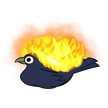 Fiery bird by kinghuehue