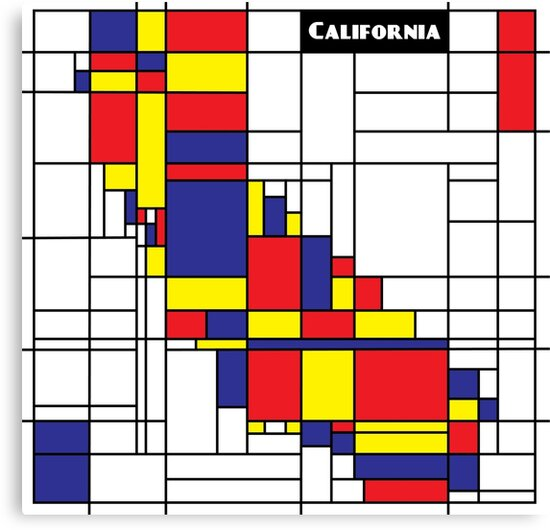 California Mondrian style Abstract by Eric Hwang