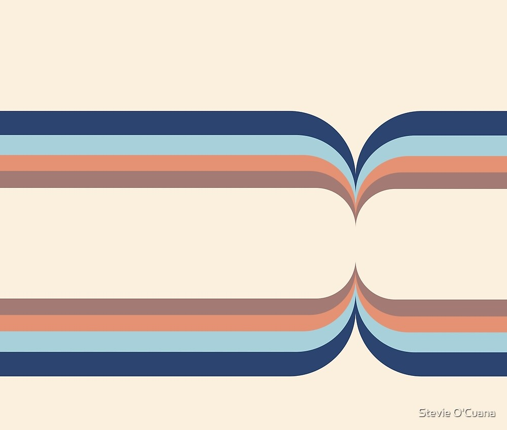 Blue Shadow Retro Curves by Stevie O'Cuana