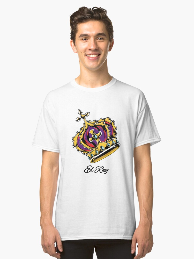 El Rey The King Crown Classic T-Shirt Front