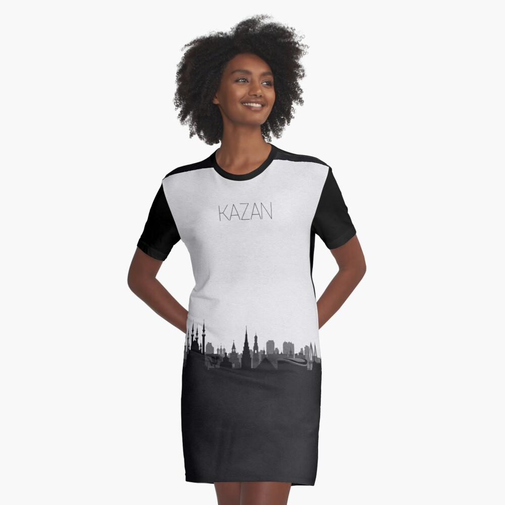 Travel Posters | Destination: Kazan Graphic T-Shirt Dress Front