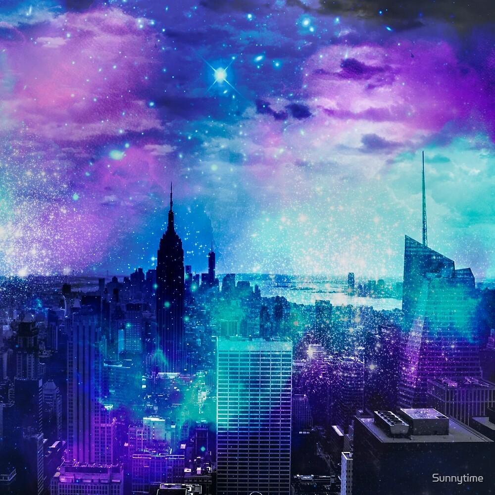 New York City Surreal Mixed Media Art by Sunnytime