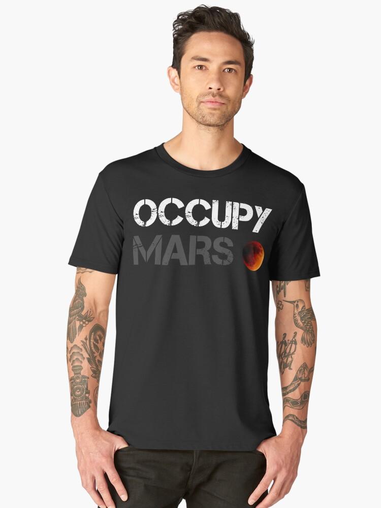 OCCUPY MARS Men's Premium T-Shirt Front