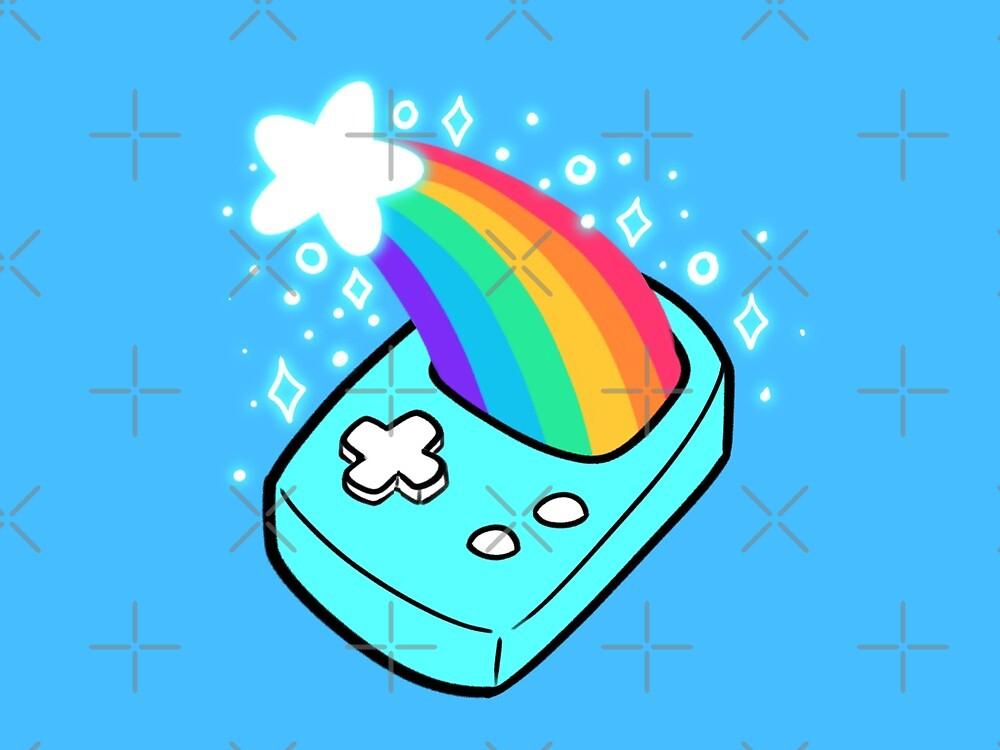 Shooting Star Rainbow Handheld Game by evocaitart