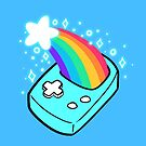 Shooting Star Rainbow Handheld Game by evocaitart