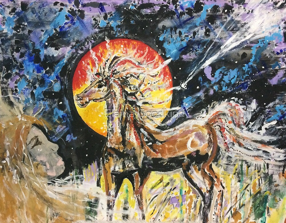 Horse Spirit's Glide with Comet by Elaina Goodkind