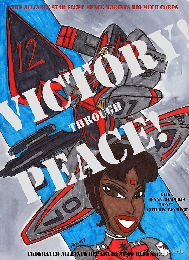 Victory Through Peace 2 by Ronald Woods
