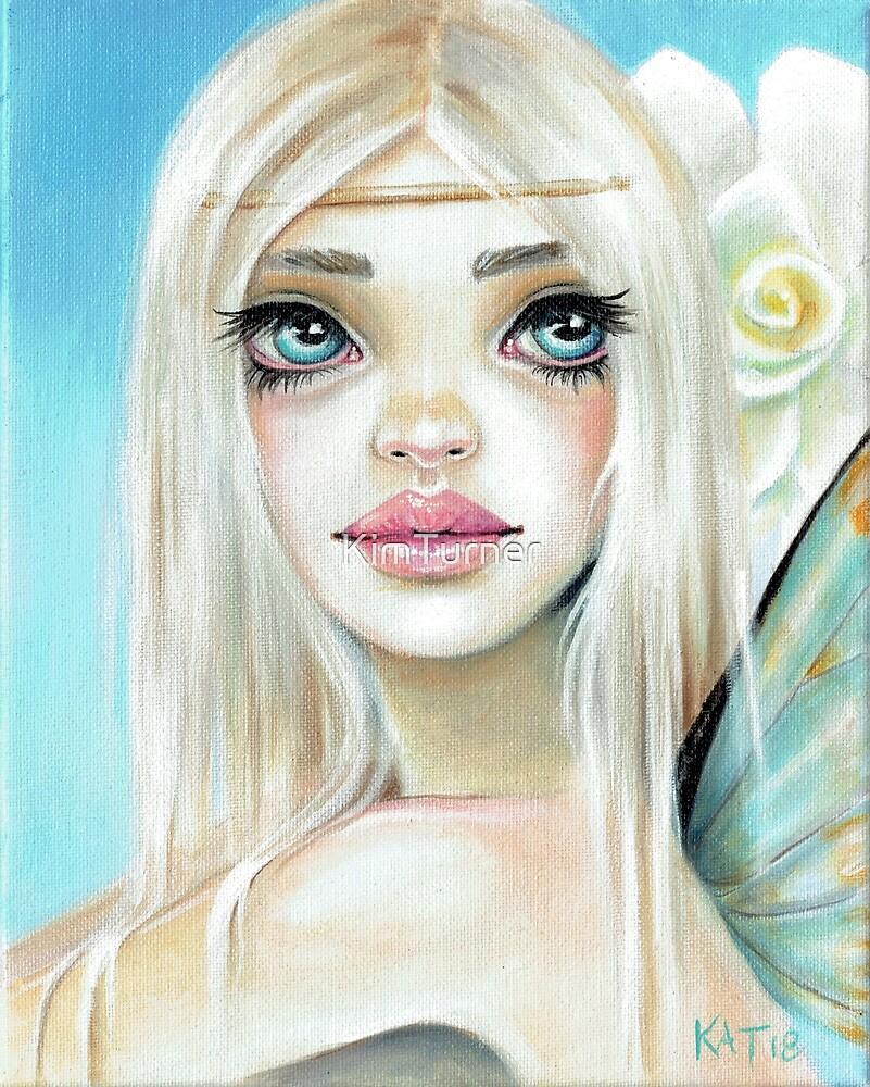 Jasmine Fairy Sky Blue background by KimTurner