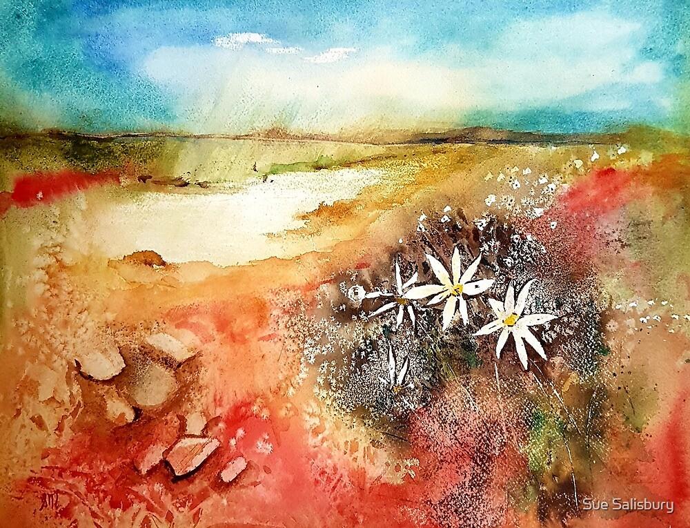 Flannel Flower Shower by Sue Munoz