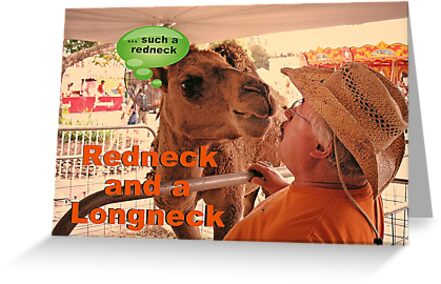 REDNECK AND A LONGNECK, Photo, greeting card by Bob Hall©