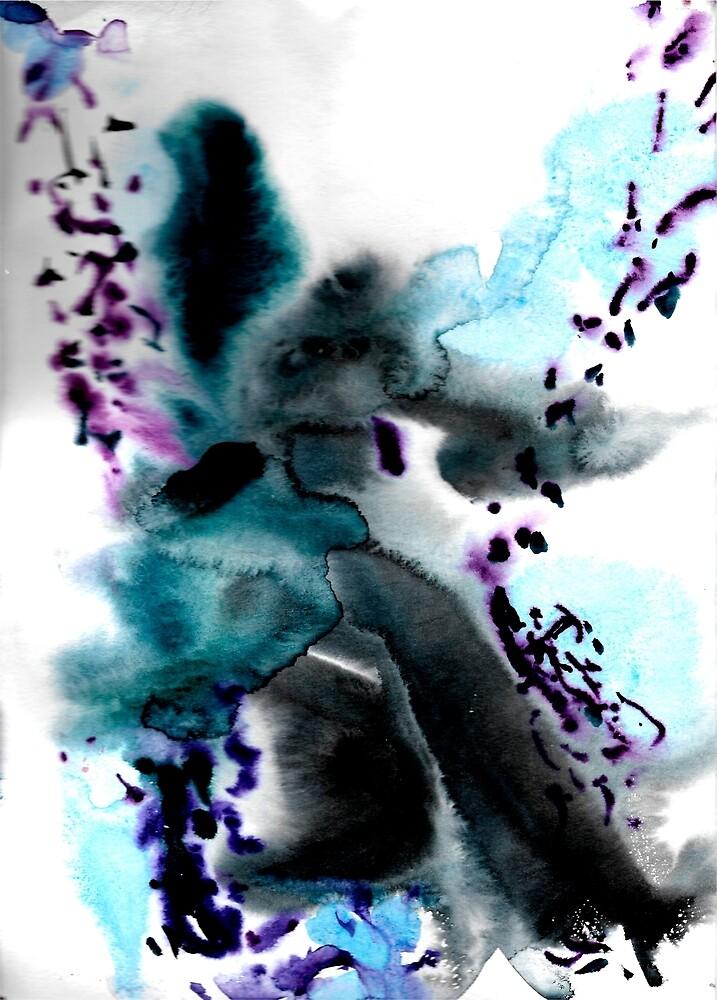 Watercolor abstract pattern by Tanya Serebruskina
