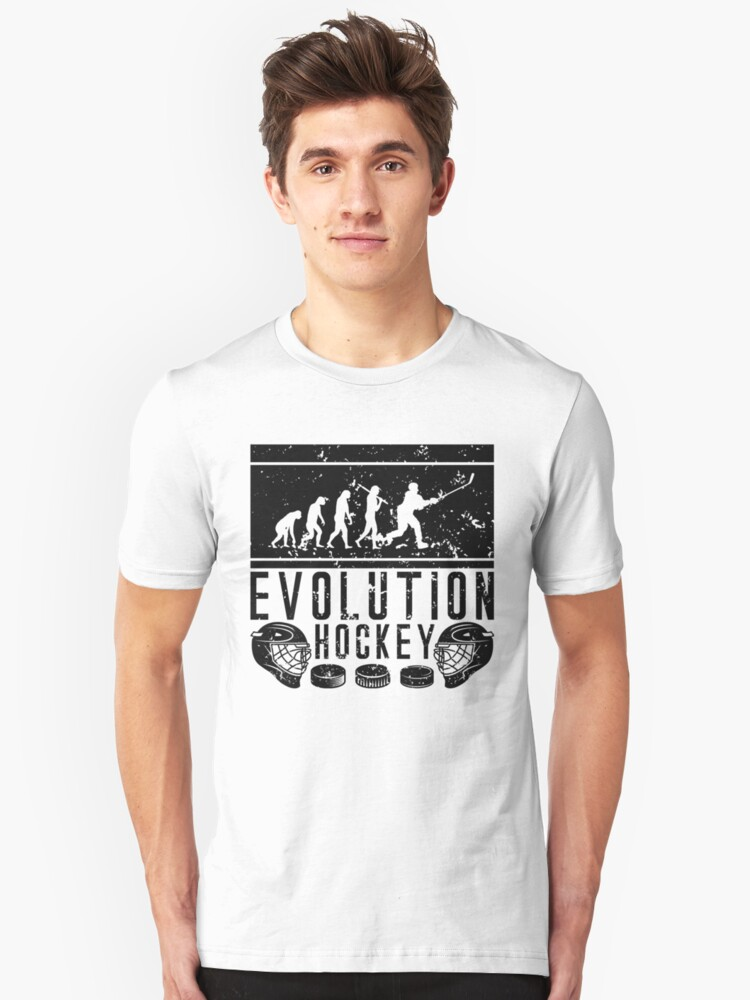 Evolution Ice Hockey Unisex T-Shirt Front