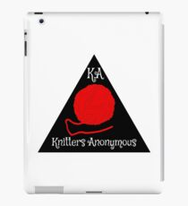 Knitters anonymous iPad Case/Skin