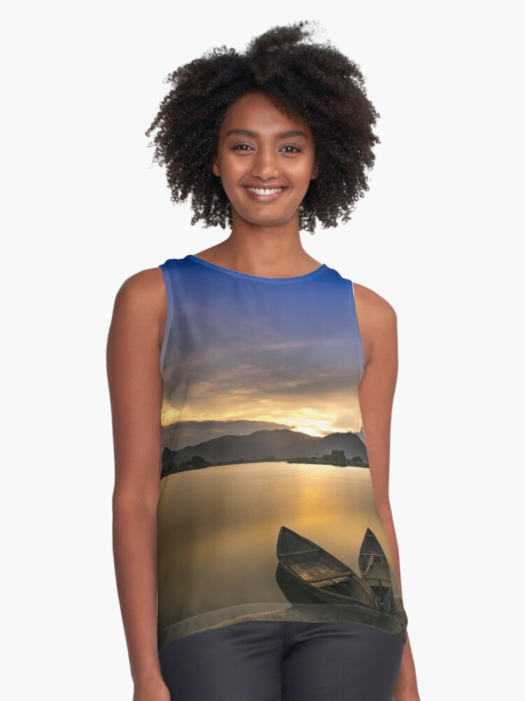 Sunset Contrast Tank Front
