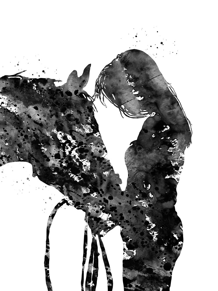 Girl with horse by erzebetth