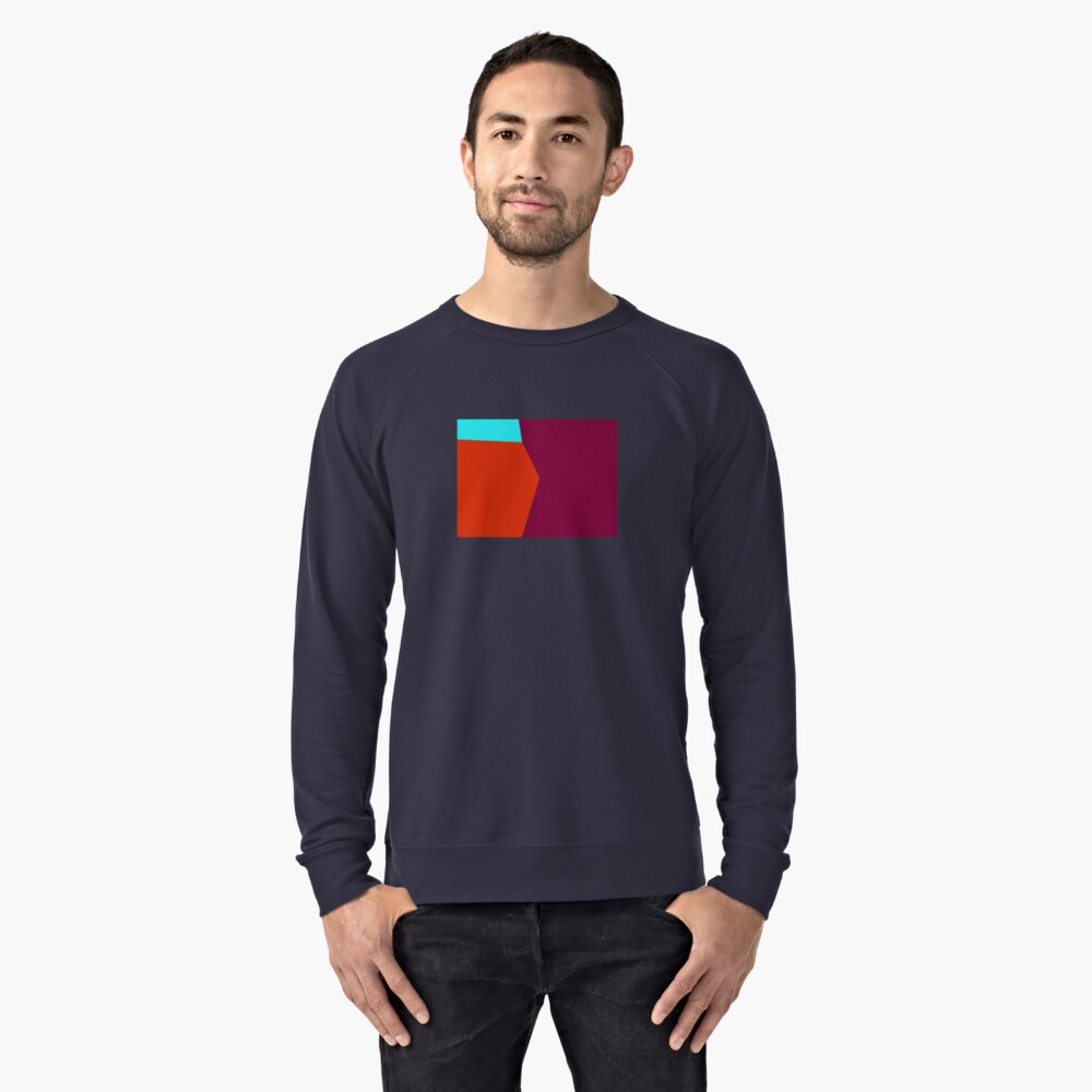 Abstract Color 2 Lightweight Sweatshirt Front