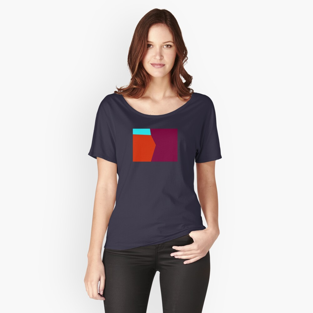 Abstract Color 2 Women's Relaxed Fit T-Shirt Front